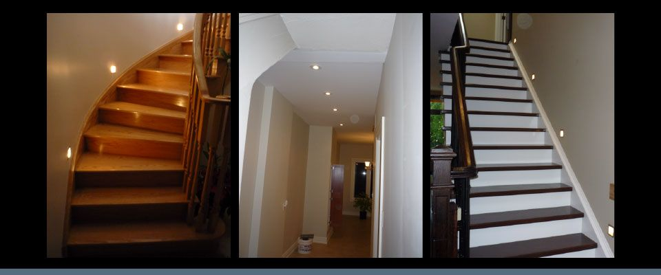 Residential lighting stairs